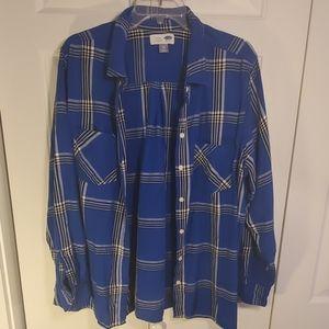 Old Navy Button Down Plaid Shirt Size XXL